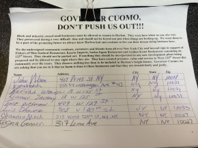 This petition chart has been put on the order desk of Sarku Japan restaurant three weeks ago.