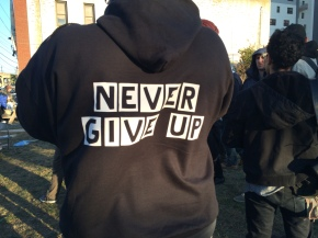 Residents gathered together to commemorate the anniversary of the storm in Far Rockaway.