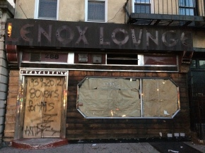 Lenox Lounge on West 125th Street and Lenox Avenue closed after a rent dispute.